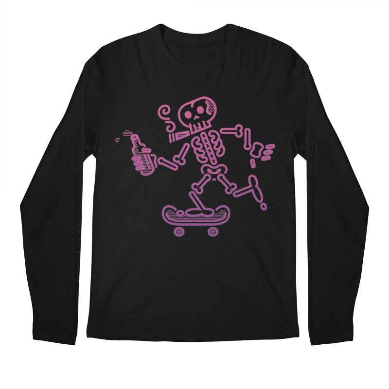 Skelly Pink Purple Men's Longsleeve T-Shirt by ME&MO Design