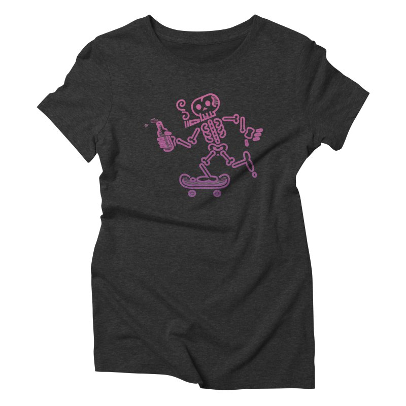 Skelly Pink Purple Women's Triblend T-Shirt by ME&MO Design