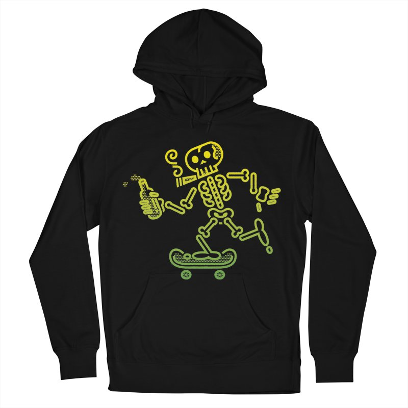 Skelly Yellow Green Women's Pullover Hoody by ME&MO Design