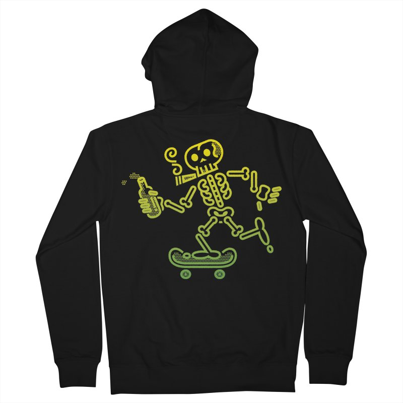 Skelly Yellow Green Men's Zip-Up Hoody by ME&MO Design