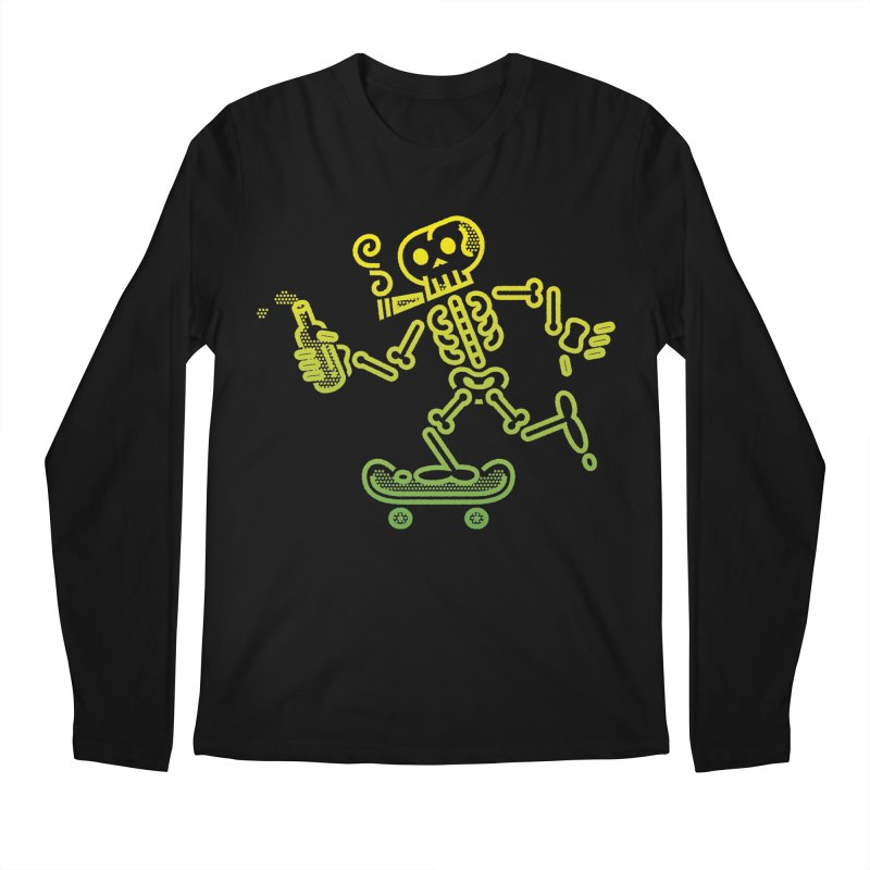 Skelly Yellow Green Men's Longsleeve T-Shirt by ME&MO Design