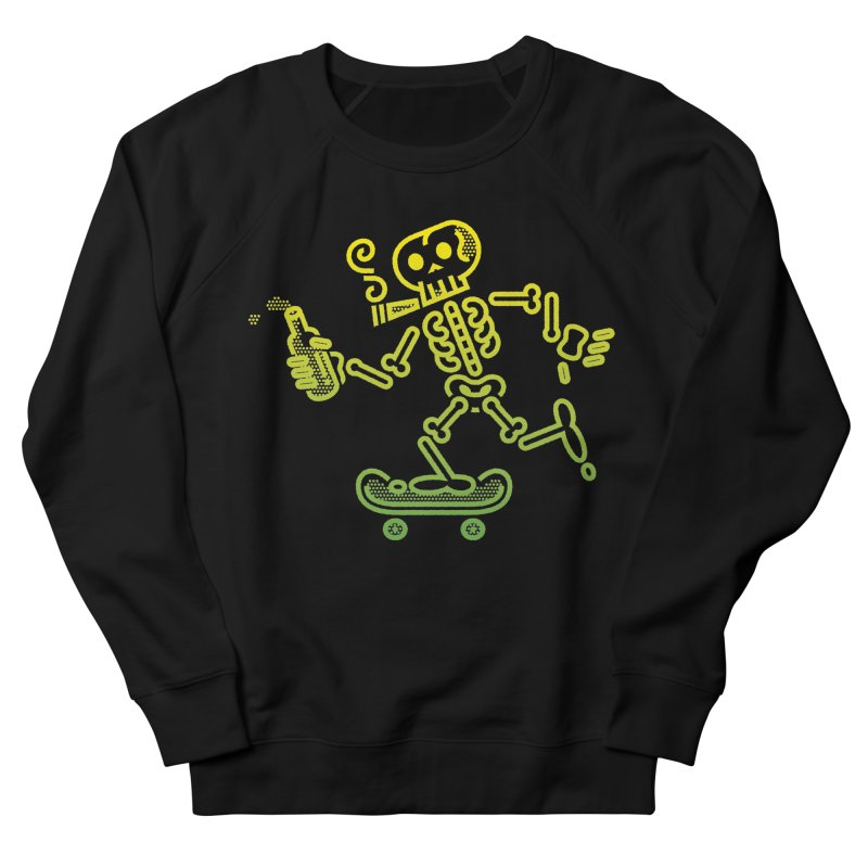 Skelly Yellow Green Men's Sweatshirt by ME&MO Design