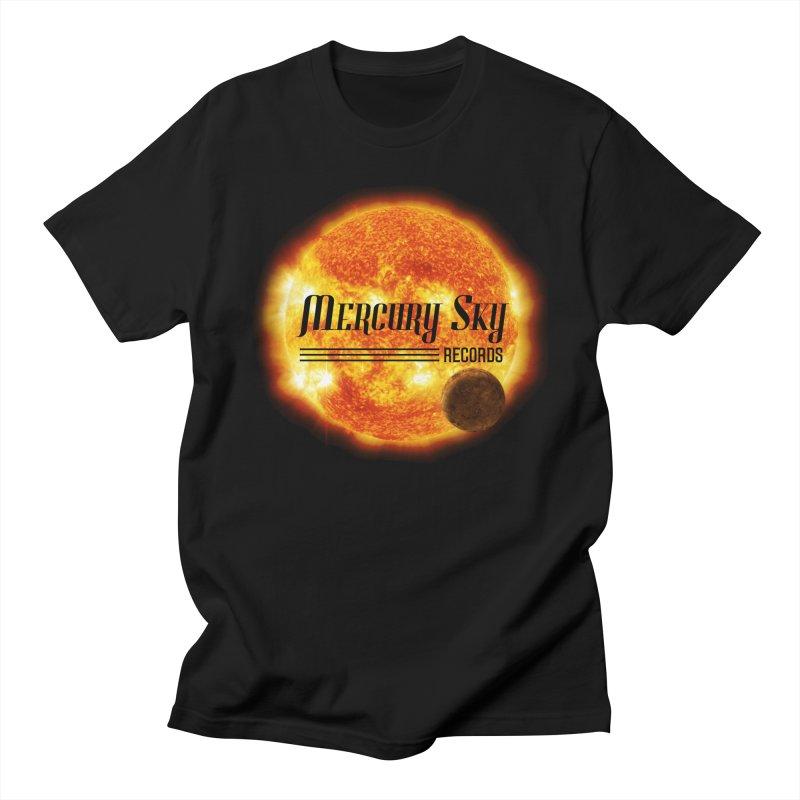MERCURY SKY RECORDS SUN Men's T-Shirt by MercurySkyRecords's Artist Shop