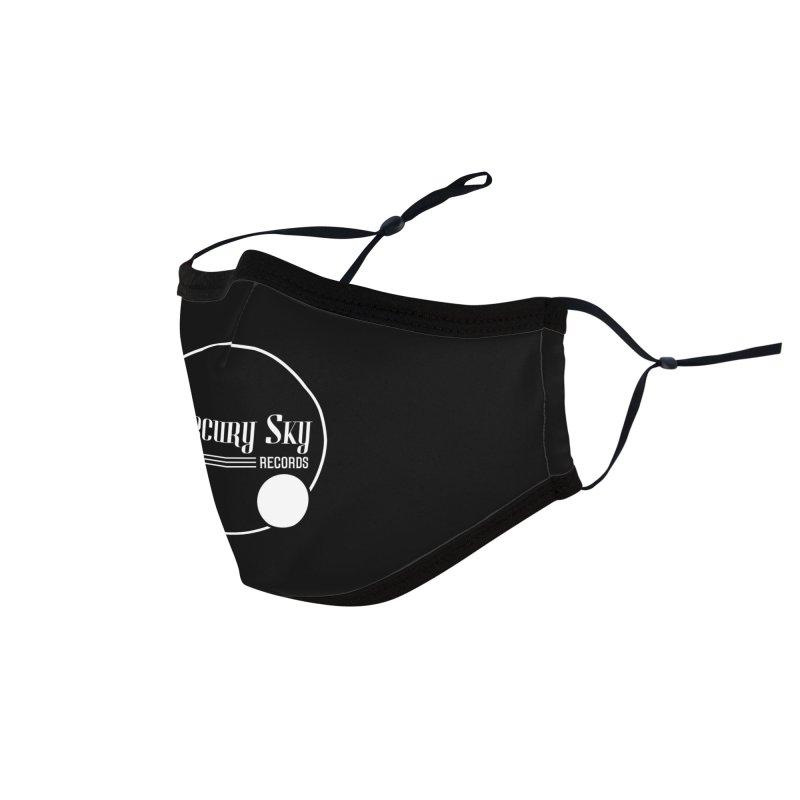 MERCURY SKY RECORDS WHITE Accessories Face Mask by MercurySkyRecords's Artist Shop