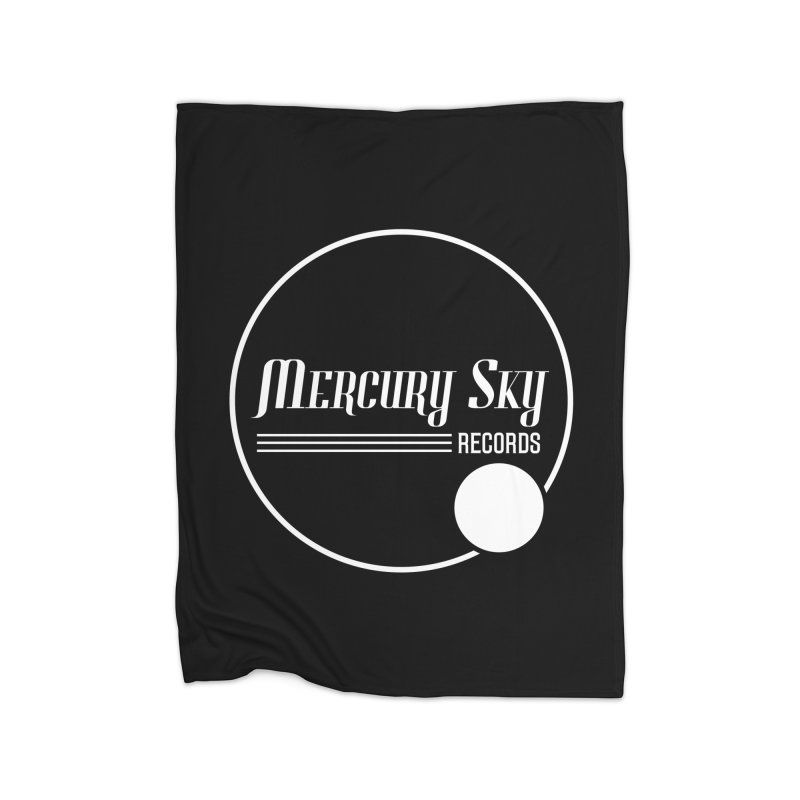 MERCURY SKY RECORDS WHITE Home Blanket by MercurySkyRecords's Artist Shop