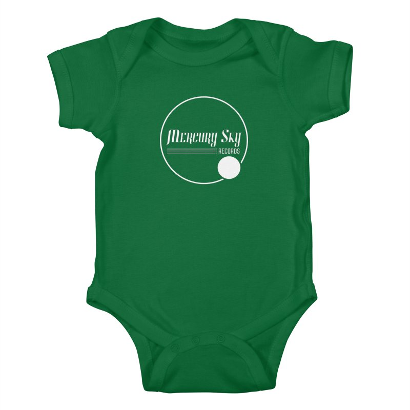 MERCURY SKY RECORDS WHITE Kids Baby Bodysuit by MercurySkyRecords's Artist Shop