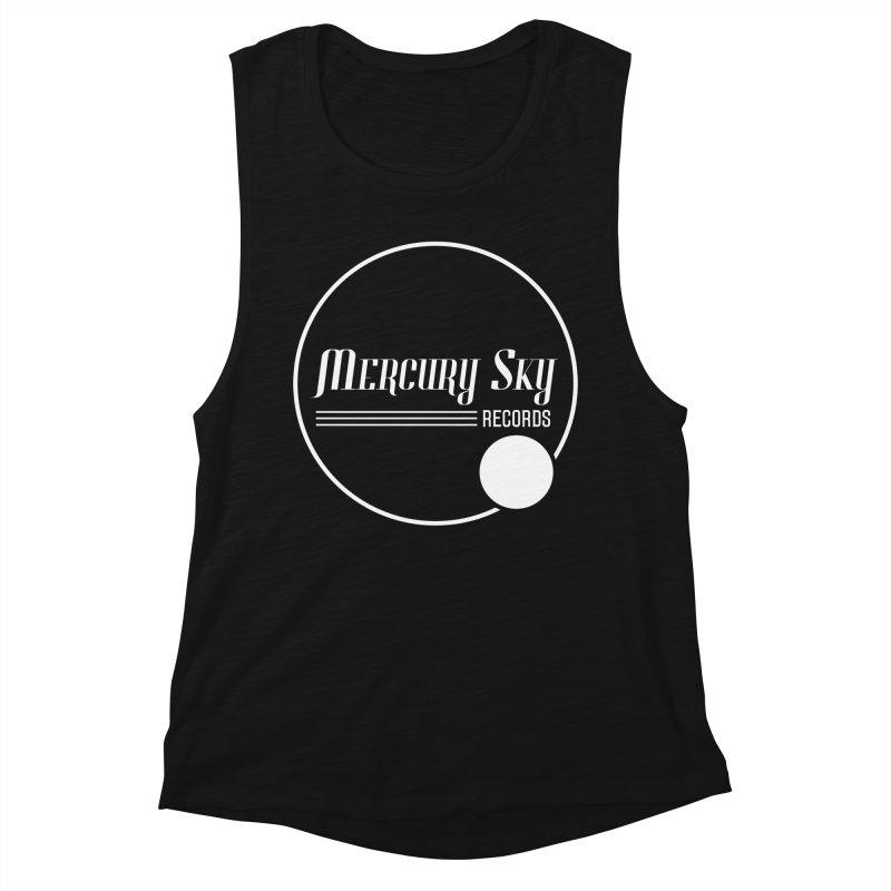 MERCURY SKY RECORDS WHITE Women's Tank by MercurySkyRecords's Artist Shop