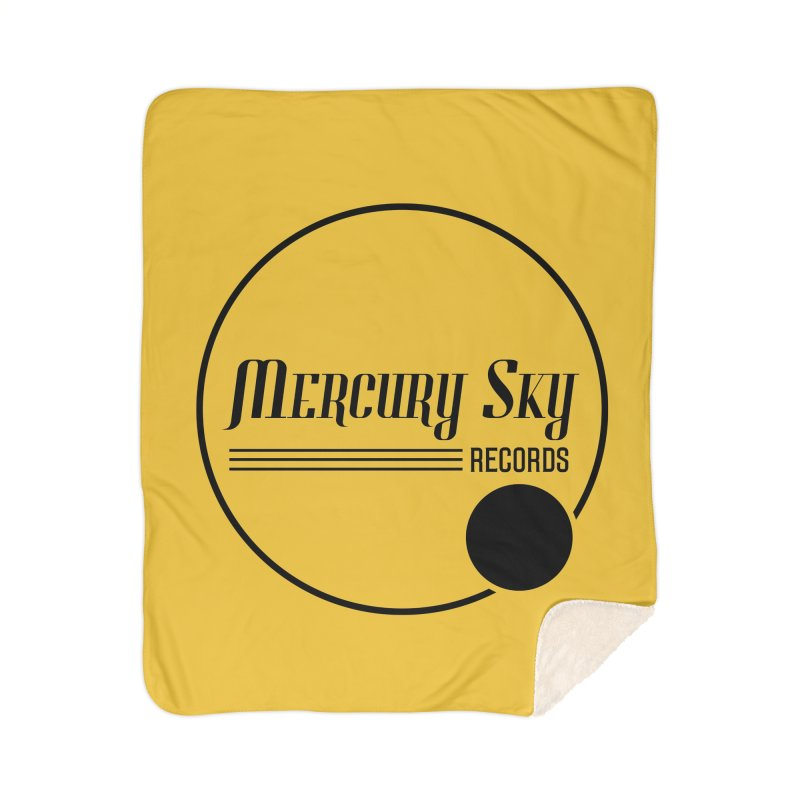 MERCURY SKY RECORDS BLACK Home Blanket by MercurySkyRecords's Artist Shop