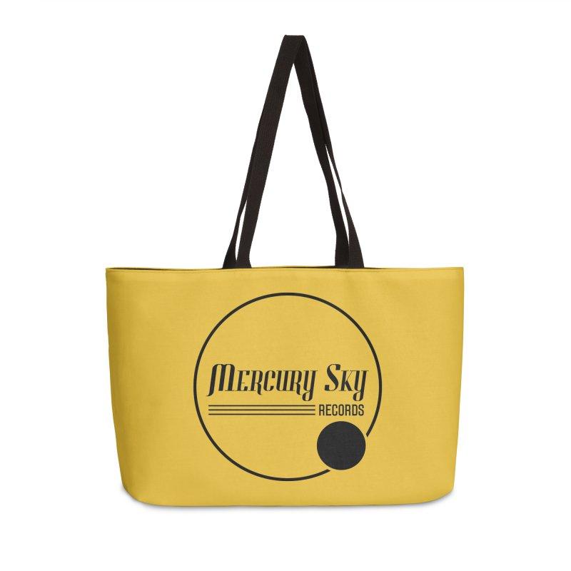 MERCURY SKY RECORDS BLACK Accessories Bag by MercurySkyRecords's Artist Shop