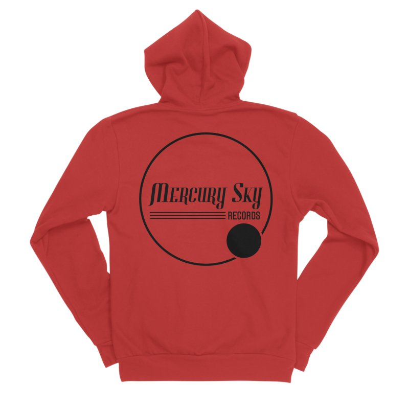 MERCURY SKY RECORDS BLACK Women's Zip-Up Hoody by MercurySkyRecords's Artist Shop