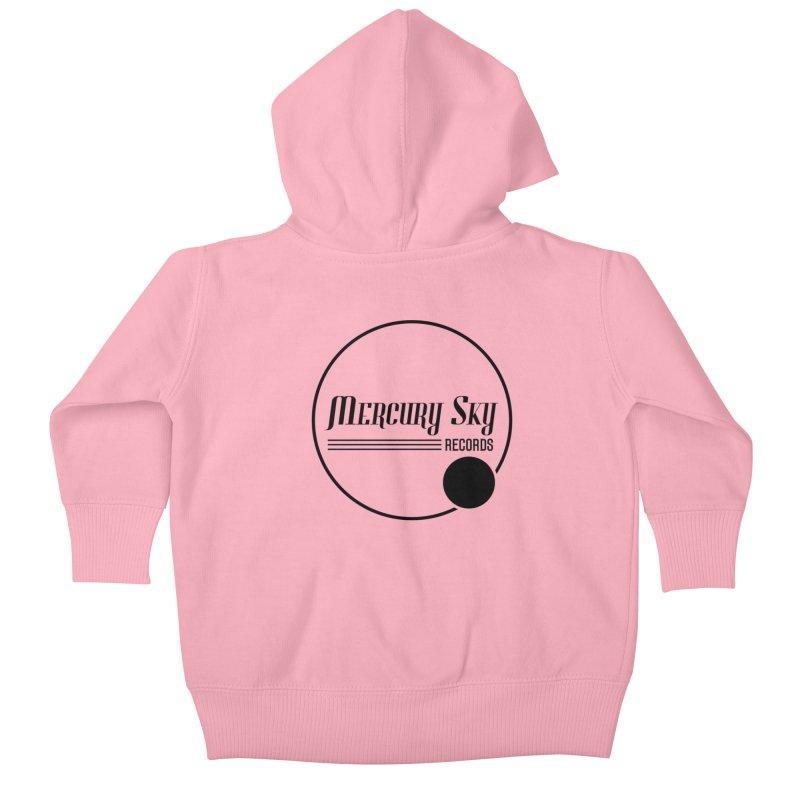 MERCURY SKY RECORDS BLACK Kids Baby Zip-Up Hoody by MercurySkyRecords's Artist Shop