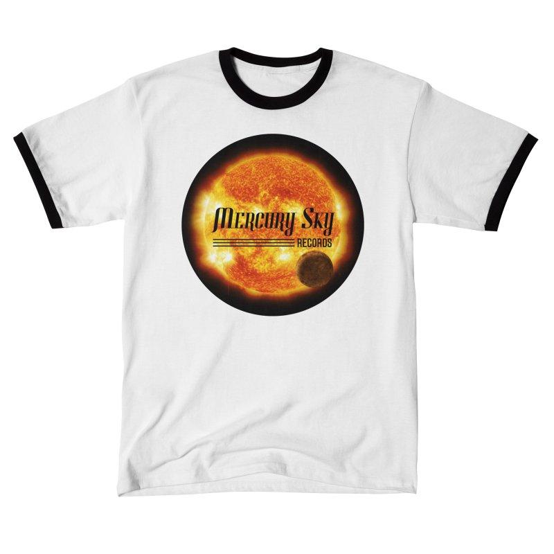 MERCURY SKY RECORDS RINGER Men's T-Shirt by MercurySkyRecords's Artist Shop