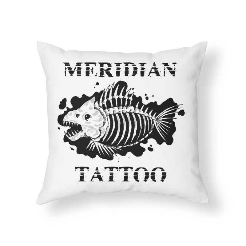 Dead fish Home Throw Pillow by Meridian Tattoo Shop
