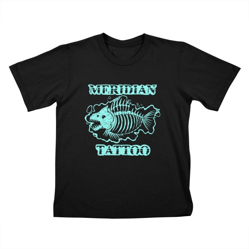 Dead fish Kids T-Shirt by Meridian Tattoo Shop