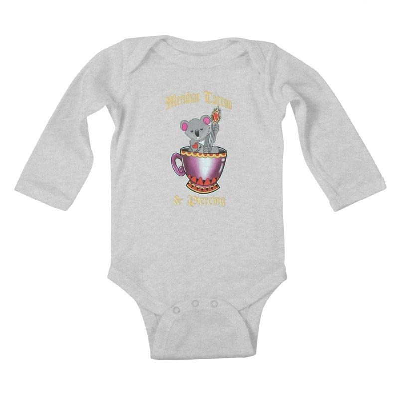 Koala tea Kids Baby Longsleeve Bodysuit by Meridian Tattoo Shop