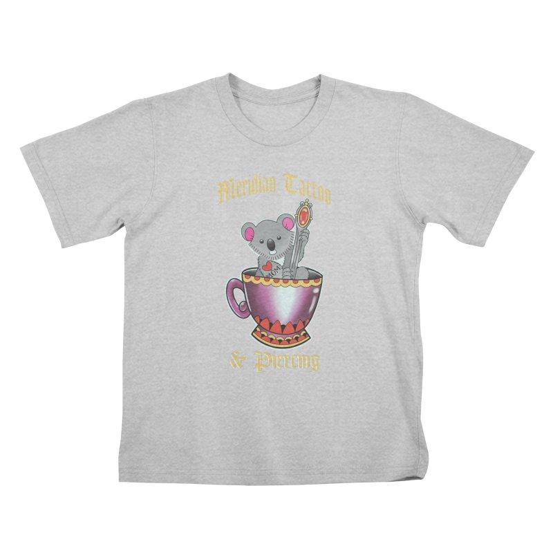 Koala tea Kids T-Shirt by Meridian Tattoo Shop