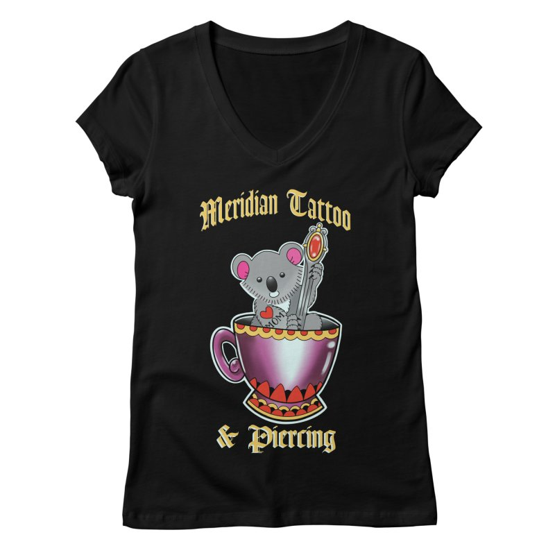 Koala tea Women's V-Neck by Meridian Tattoo Shop