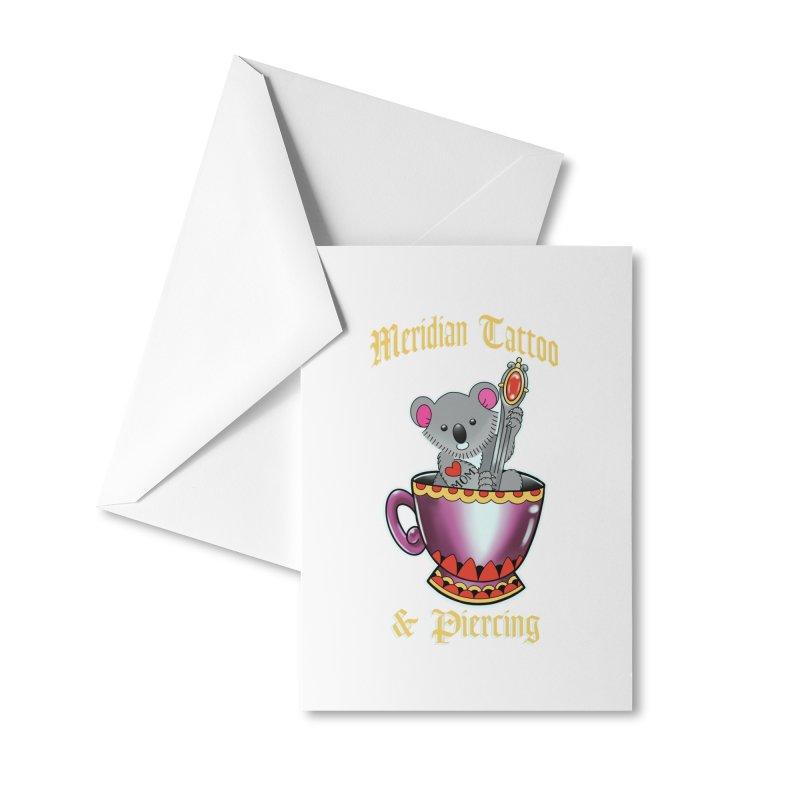 Koala tea Accessories Greeting Card by Meridian Tattoo Shop