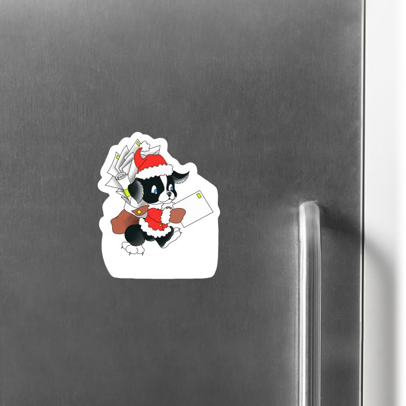 Santa puppy Accessories Magnet by Meridian Tattoo Shop