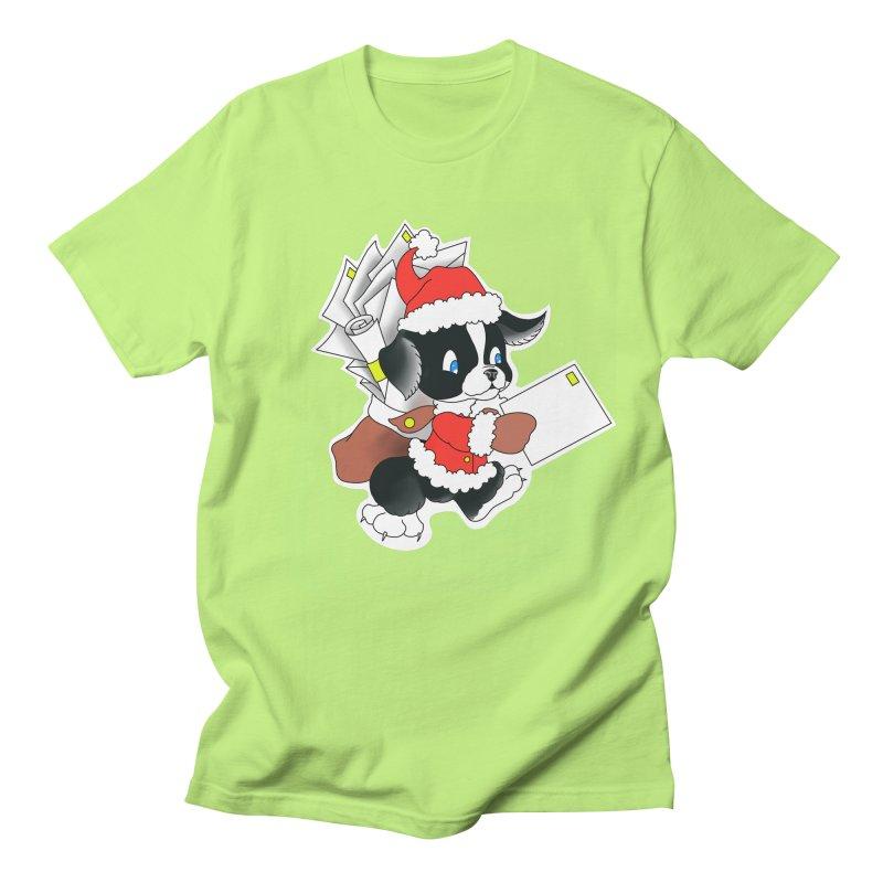 Santa puppy Men's T-Shirt by Meridian Tattoo Shop