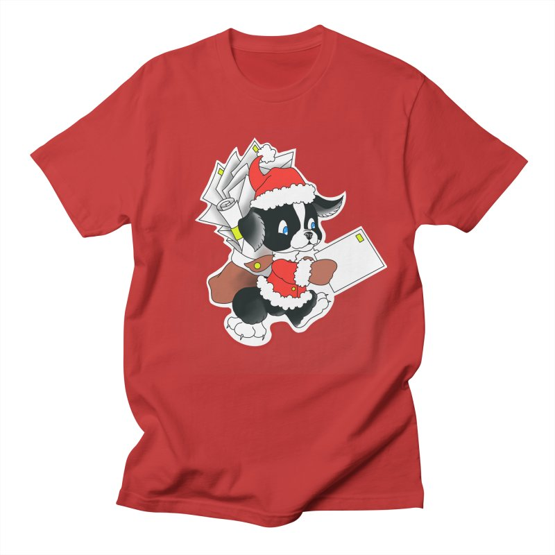 Santa puppy Men's T-Shirt by Meridian Tattoo Shop