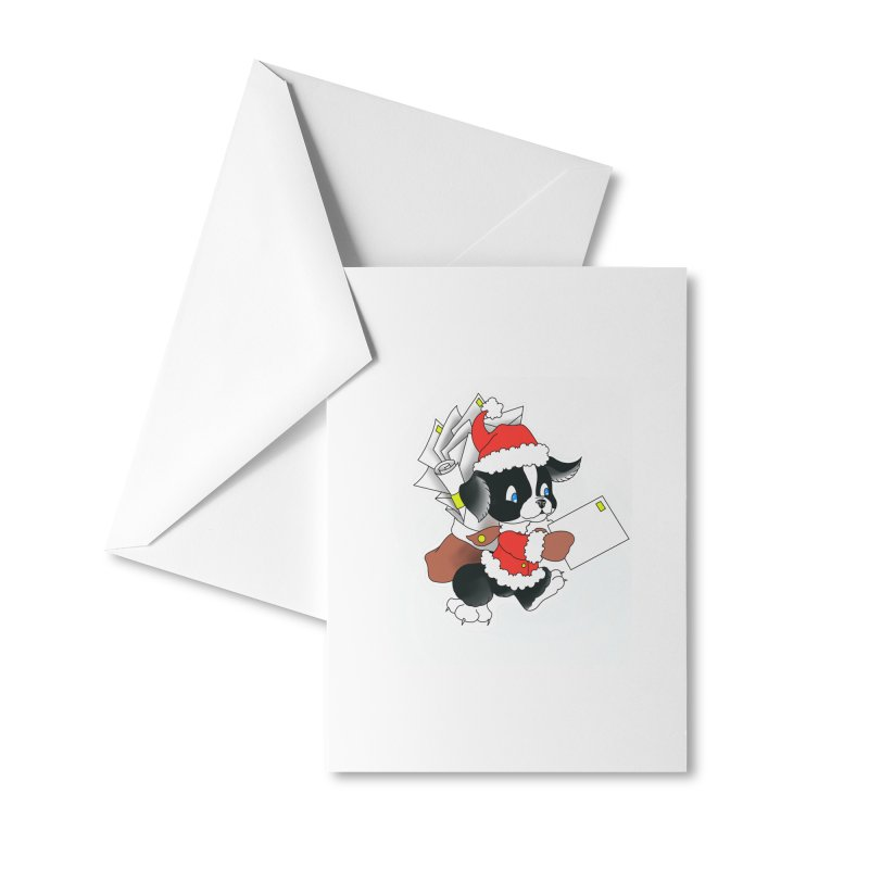 Santa puppy Accessories Greeting Card by Meridian Tattoo Shop
