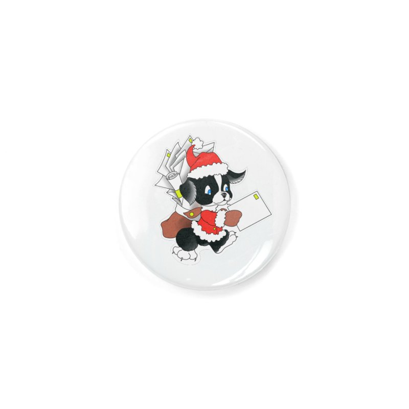 Santa puppy Accessories Button by Meridian Tattoo Shop