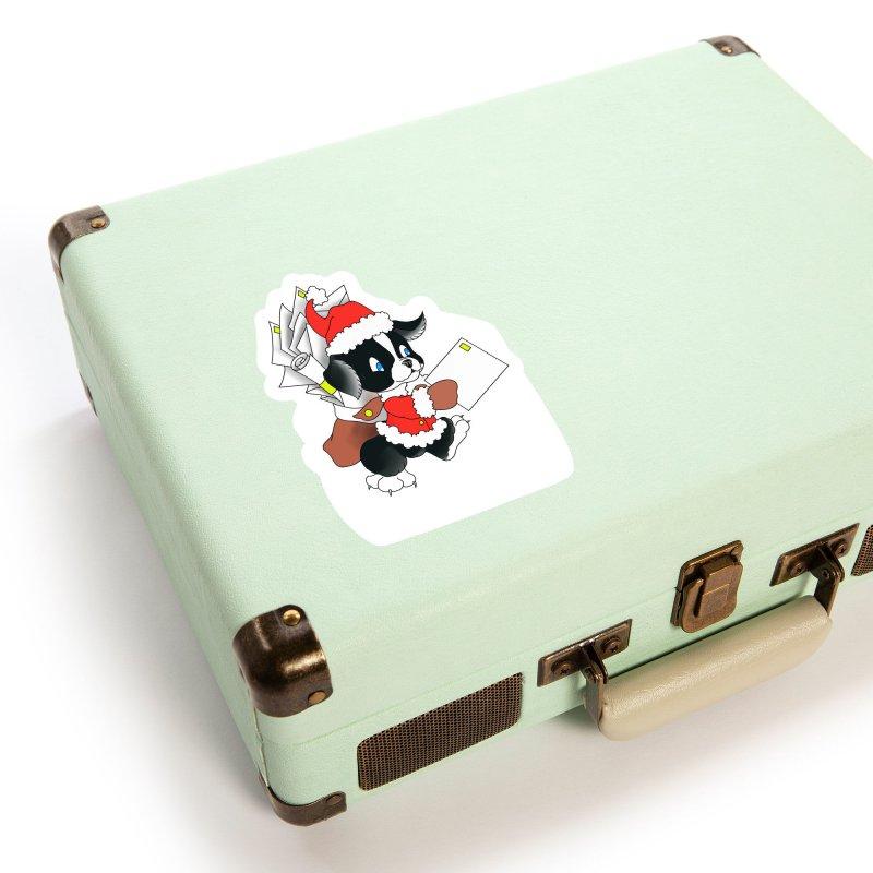 Santa puppy Accessories Sticker by Meridian Tattoo Shop