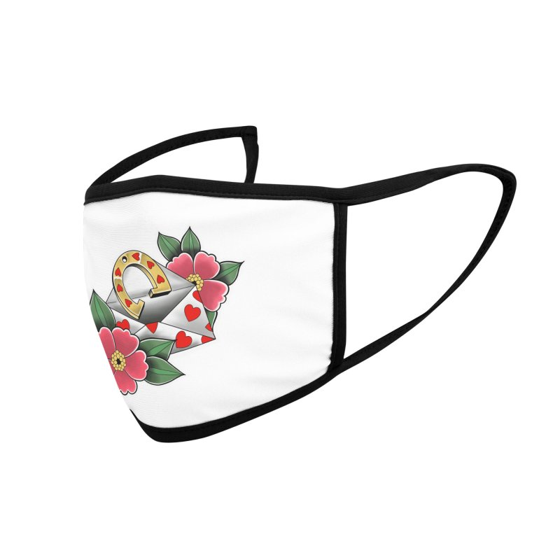 Valentines day Accessories Face Mask by Meridian Tattoo Shop