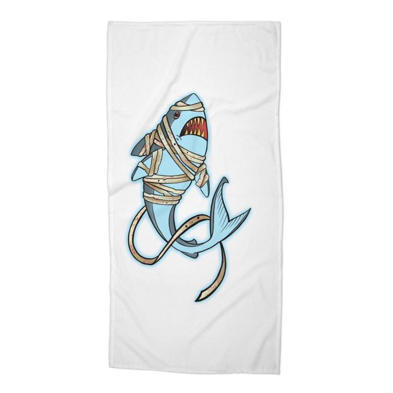 Mummy shark Accessories Beach Towel by Meridian Tattoo Shop