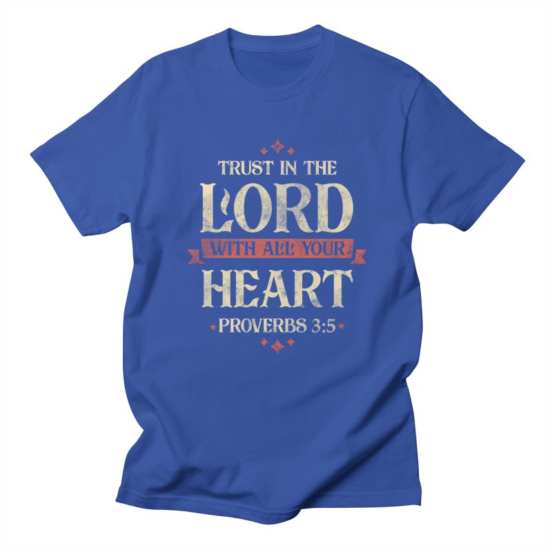 Proverbs 3:5 in Men's Regular T-Shirt Royal Blue by RLLBCK Clothing Co.