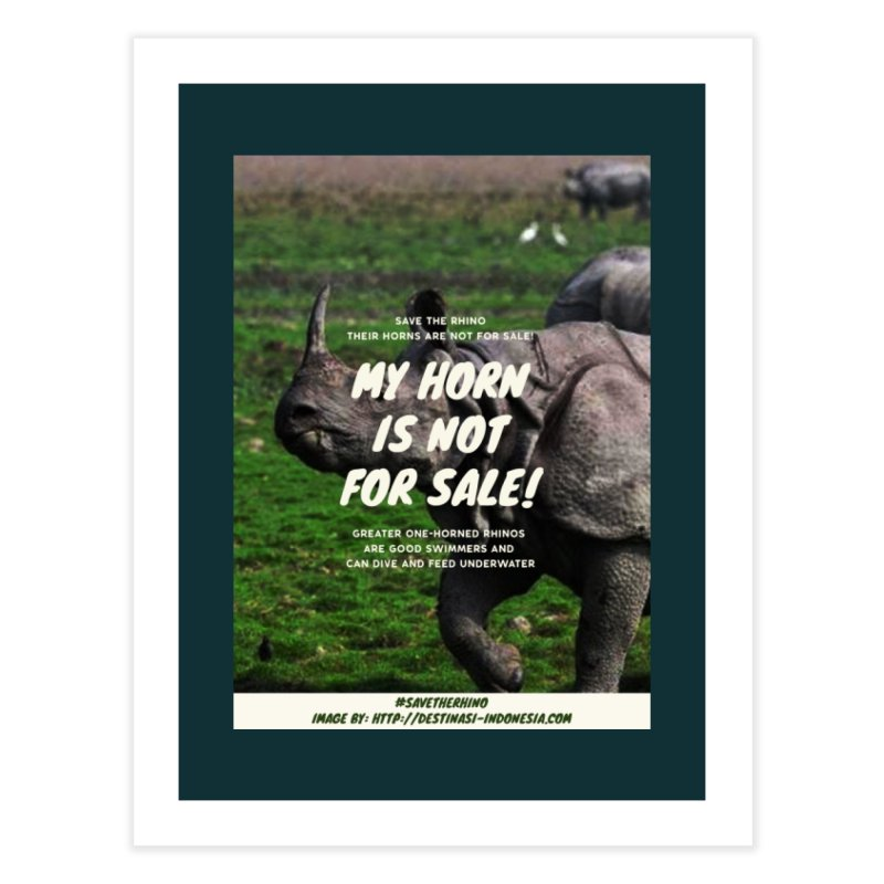 Save the Rhino Home Fine Art Print by RLLBCK Clothing Co.