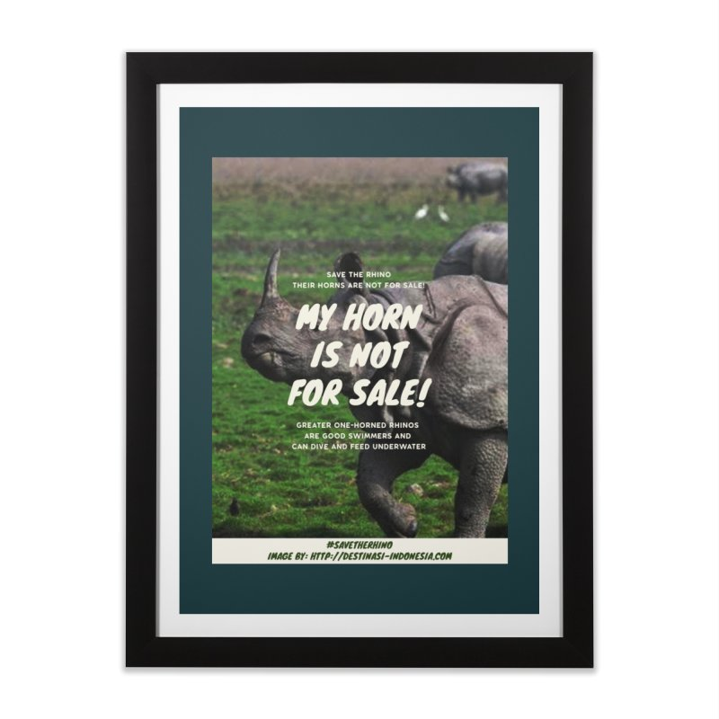 Save the Rhino Home Framed Fine Art Print by RLLBCK Clothing Co.