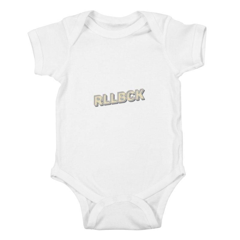 RLLBCK VINTAGE THYPOGRAPHY Kids Baby Bodysuit by RLLBCK Clothing Co.