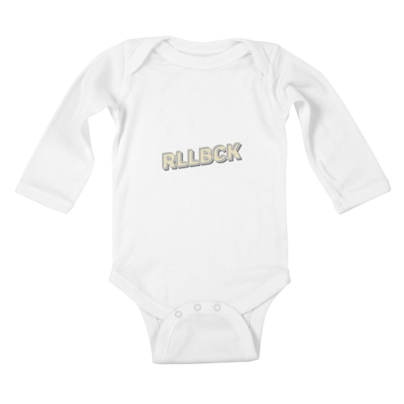RLLBCK VINTAGE THYPOGRAPHY Kids Baby Longsleeve Bodysuit by RLLBCK Clothing Co.