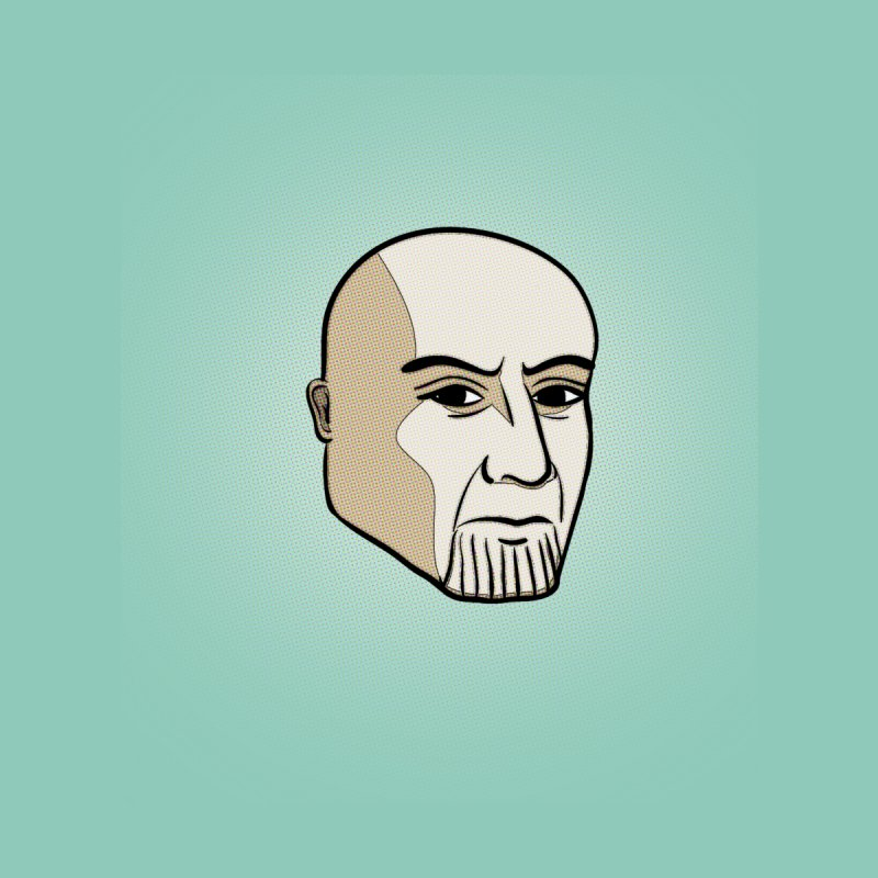 Face Of Thanos by RLLBCK Clothing Co.