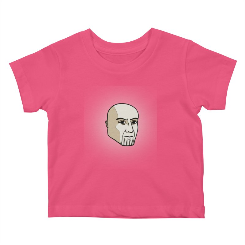 Face Of Thanos Kids Baby T-Shirt by RLLBCK Clothing Co.