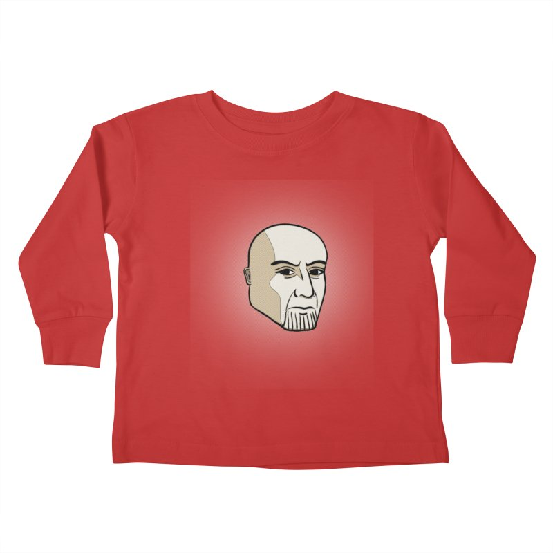 Face Of Thanos Kids Toddler Longsleeve T-Shirt by RLLBCK Clothing Co.