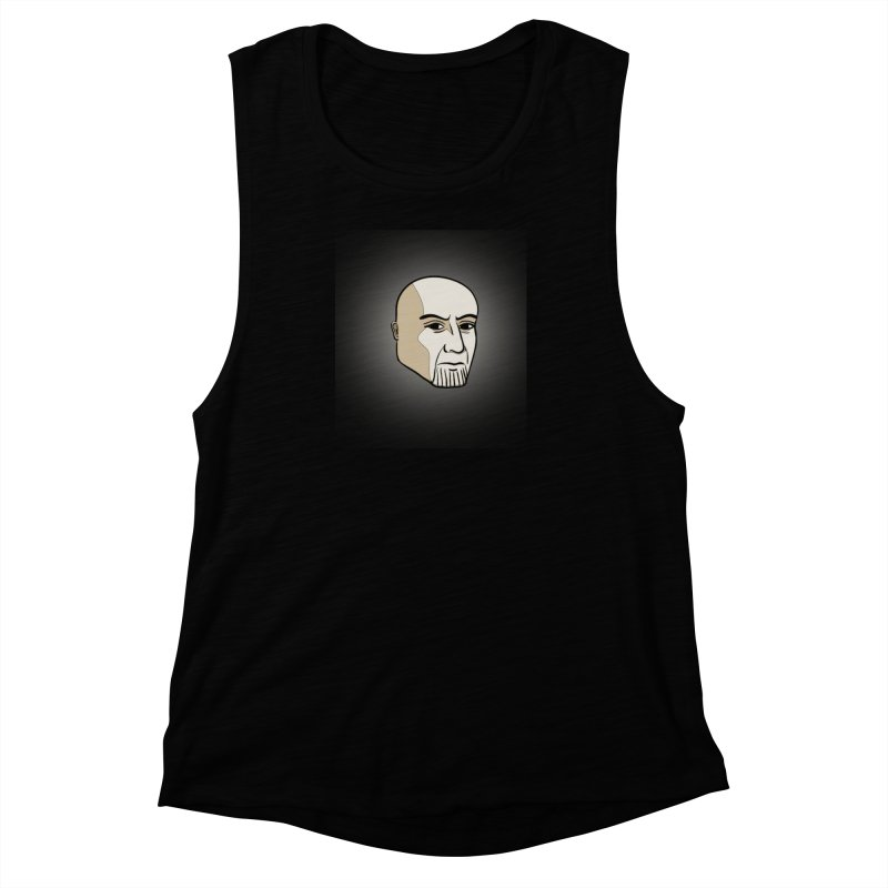 Face Of Thanos Women's Muscle Tank by RLLBCK Clothing Co.