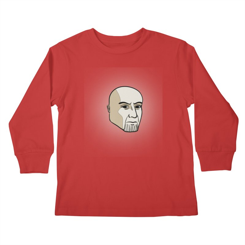 Face Of Thanos Kids Longsleeve T-Shirt by RLLBCK Clothing Co.