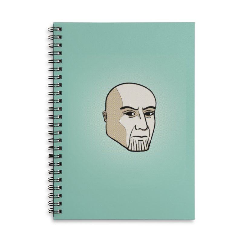 Face Of Thanos Accessories Lined Spiral Notebook by RLLBCK Clothing Co.