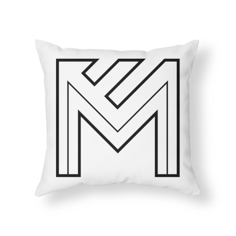 Black on White Logo Home Throw Pillow by MerlotEmbargo's Artist Shop