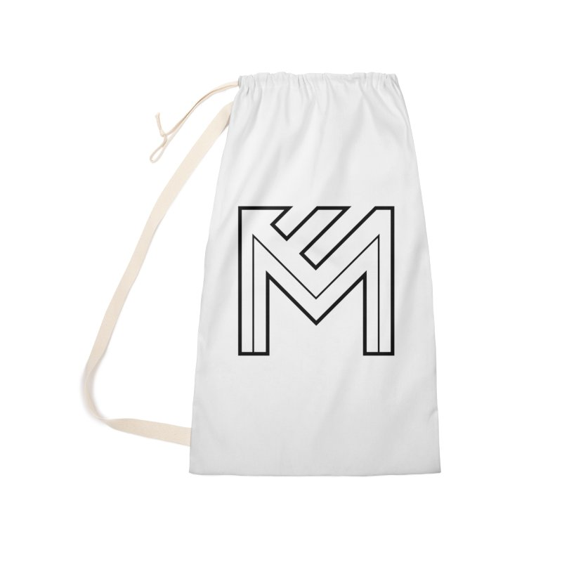 Black on White Logo Accessories Laundry Bag Bag by MerlotEmbargo's Artist Shop