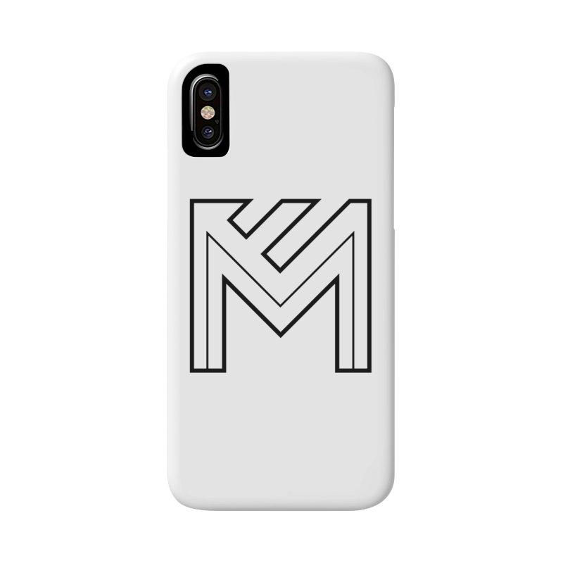 Black on White Logo Accessories Phone Case by MerlotEmbargo's Artist Shop