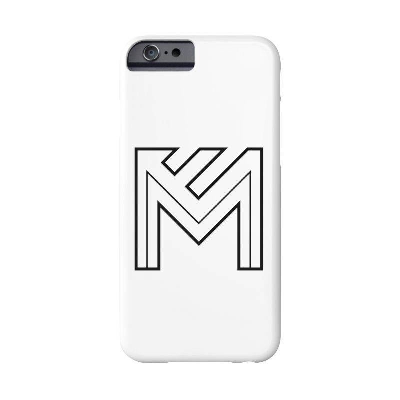 Black on White Logo Accessories Phone Case by MerlotEmbargo's Artist Shop