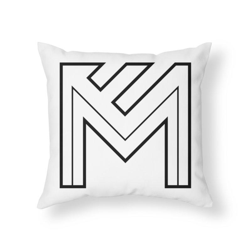 Black on White Logo Home Throw Pillow by MerlotEmbargo's Artist Shop