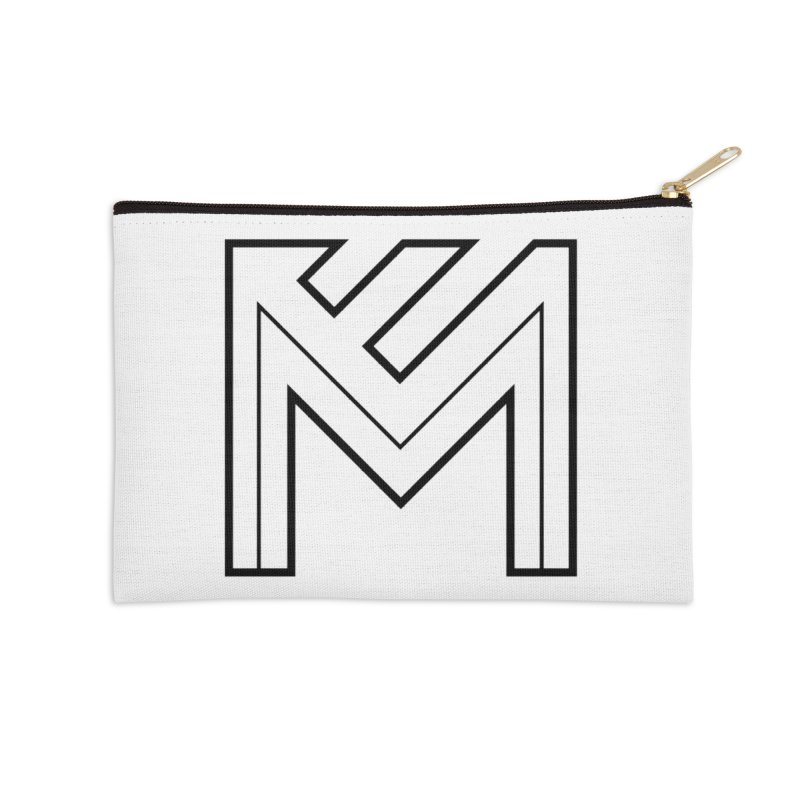 Black on White Logo Accessories Zip Pouch by MerlotEmbargo's Artist Shop