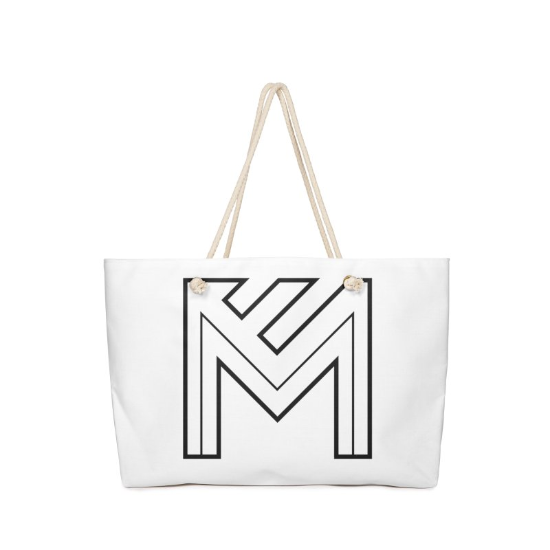 Black on White Logo Accessories Bag by MerlotEmbargo's Artist Shop