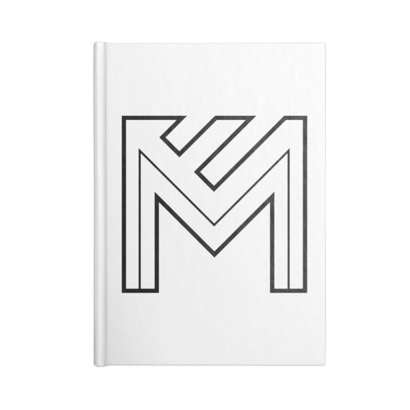 Black on White Logo Accessories Lined Journal Notebook by MerlotEmbargo's Artist Shop