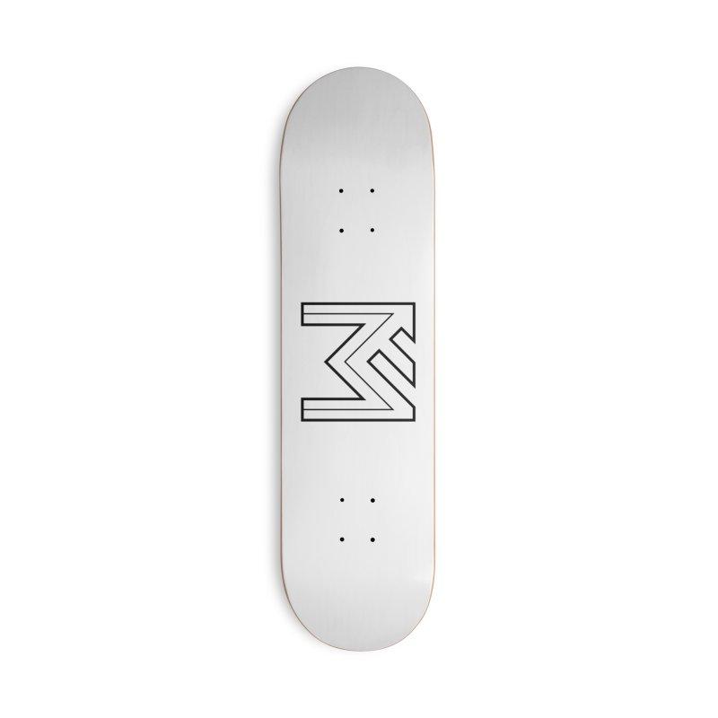 Black on White Logo Accessories Skateboard by MerlotEmbargo's Artist Shop